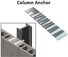 Notched Column Anchor - Corrugated